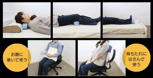 磁気治療器の使用例を写真で